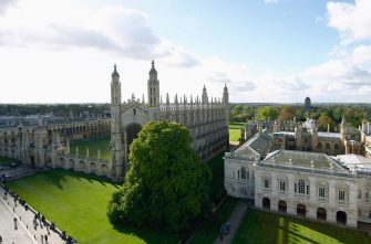King's College and Old Schools from St Mary's Church, Cambridge, UK. (Photo by Andrew Holt/Construction Photography/Avalon/Getty Images)