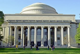 CAMBRIDGE, MA - OCTOBER 10:  Massachusetts Institute of Technology students play football outside the Maclaurin building October 10, 2003 in Cambridge, Massachusetts.  (Photo by William B. Plowman/Getty Images)