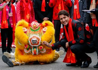 VANCOUVER, BC - JANUARY 29:  Prime Minister of Canada Justin Trudeau attends the 44th Vancouver Chinatown Spring Festival Parade on January 29, 2017 in Vancouver, Canada.  (Photo by Andrew Chin/Getty Images)