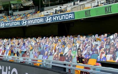 Coronavirus Australia: allo stadio niente tifosi, solo cartonati. FOTO