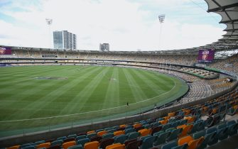 BRISBANE, AUSTRALIA - JUNE 13: A general view before the round 2 AFL match between the Brisbane Lions and the Fremantle Dockers at The Gabba on June 13, 2020 in Brisbane, Australia. (Photo by Jono Searle/AFL Photos/Getty Images)
