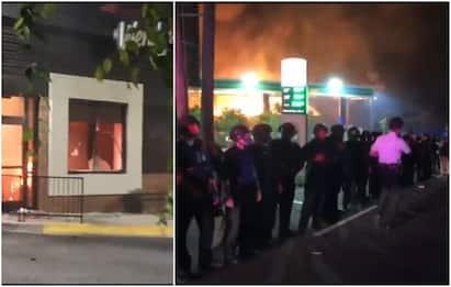 Atlanta, manifestanti incendiano il ristorante Wendy's. VIDEO