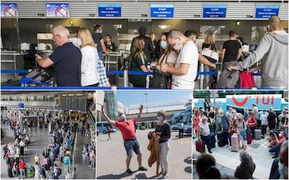 Code negli aeroporti tedeschi: primi turisti partono per Baleari. FOTO