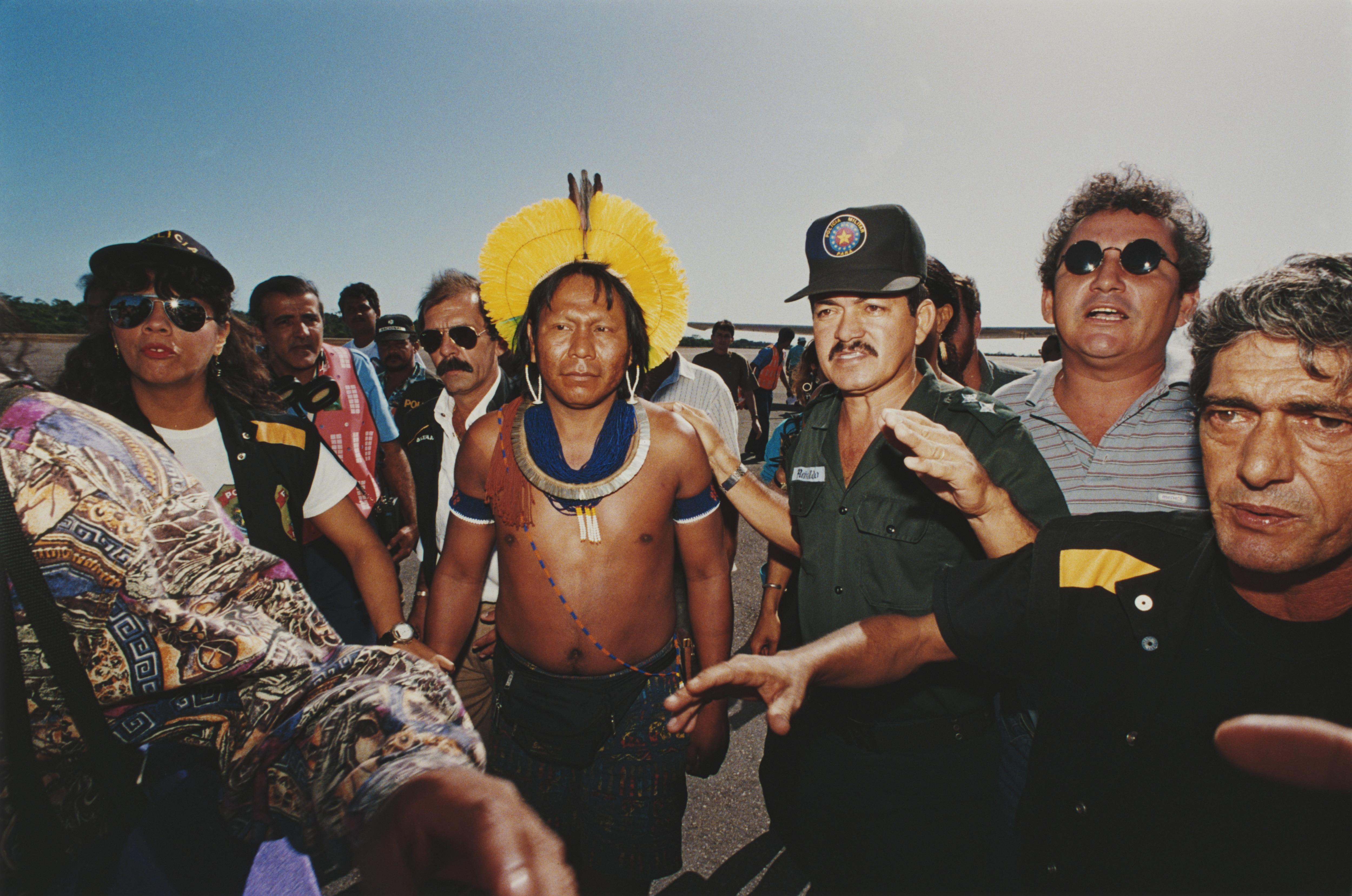Paulinho Paiakan in occasione dell'arresto nel 1992