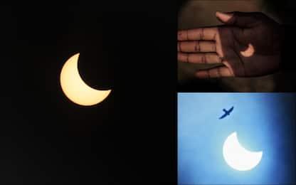 Eclissi solare anulare, le immagini nel mondo. FOTO