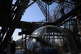 PARIS, FRANCE - JUNE 25: The Eiffel Tower Reopens To The Public on June 25, 2020 in Paris, France. (Photo by Pascal Le Segretain/Getty Images)