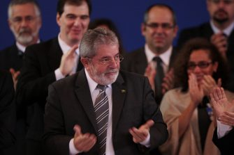 A picture dated 17 December 2010 shows Brazil's President Luiz Inacio Lula da Silva at XL Mercosur Summit in Foz do Iguazu, Brazil. Brazilian President said goodbye to  the international community with an emotional speech to the XL Mercosur Summit in which he highlighted the progress made by the block. Photo: Joedson Alves/dpa 