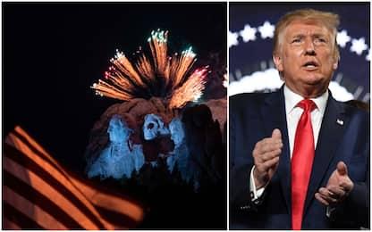Trump al Monte Rushmore per le celebrazioni del 4 luglio. FOTO