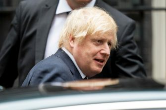 British Prime Minister Boris Johnson leaves 10 Downing Street to attend Prime Ministers Questions (PMQs) at the Houses of Parliament, Central London, Britain, 01 July 2020.  ANSA/WILL OLIVER