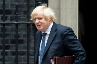 epa08520118 British Prime Minister Boris Johnson leaves 10 Downing Street to attend Prime Ministers Questions (PMQs) at the Houses of Parliament, Central London, Britain, 01 July 2020.  EPA/WILL OLIVER