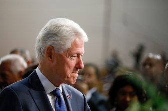 DETROIT, MI - NOVEMBER 04: Former President Bill Clinton is shown at the funeral of former U.S. Congressman John Conyers Jr. (D-MI) at Greater Grace Temple on November 4, 2019 in Detroit, Michigan. Conyers, who died on October 27 at the age of 90, was the longest serving African American member of the U.S House of Representatives in U.S. history, and the third longest serving House member, having held the office for more than 50 years. (Photo by Bill Pugliano/Getty Images)