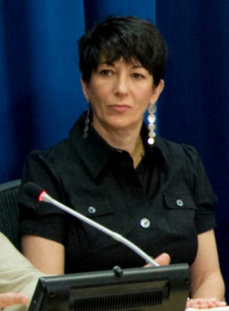 epa08522914 (FILE) - A handout file photo made available by the United Nations (UN) shows British socialite Ghislaine Maxwell, Founder of the TerraMar Project, attending a press conference on the issue of oceans in the Sustainable Development Goals, at the UN headquarters in New York, New York, USA, 25 June 2013 (issued 02 July 2020). Media reports state that Ghislaine Maxwell, a longtime associate of accused sex trafficker Jeffrey Epstein, has been arrested on 02 July 2020 in New Hampshire by the Federal Bureau of Investigation (FBI) on sex-trafficking charges. She had been wanted by authorities in connection with accusations that she helped procure young girls for sexual exploitation by Epstein.  EPA/RICK BAJORNAS/UN PHOTO HANDOUT  HANDOUT EDITORIAL USE ONLY/NO SALES