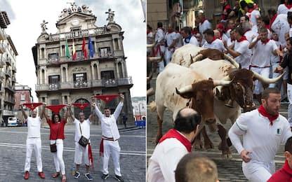 Coronavirus, proteste a Pamplona per lo stop alla corsa dei tori. FOTO