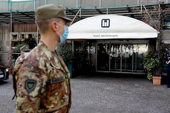 Esterno dell'Hotel Michelangelo a Milano, 7 luglio 2020.ANSA/Mourad Balti Touati