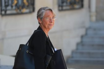 French Minister for the Ecological and Inclusive Transition Elisabeth Borne leaves after the weekly cabinet meeting at the Elysee Palace in Paris, on June 24, 2020. (Photo by Ludovic Marin / AFP) (Photo by LUDOVIC MARIN/AFP via Getty Images)