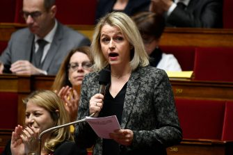 French MP La Republique en Marche (LREM) Barbara Pompili reacts during a session of questions to the government at the National Assembly in Paris on December 18, 2018. (Photo by Lionel BONAVENTURE / AFP)        (Photo credit should read LIONEL BONAVENTURE/AFP via Getty Images)