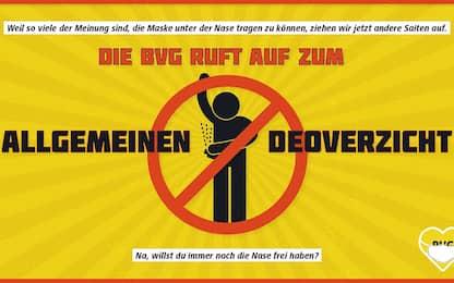 Germania, l'ironica campagna: non usate deodorante su mezzi pubblici