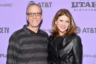"PARK CITY, UTAH - JANUARY 25: Directors Kirby Dick and Amy Ziering attend the 2020 Sundance Film Festival - ""On The Record"" Premiere at The Marc Theatre on January 25, 2020 in Park City, Utah. (Photo by Dia Dipasupil/Getty Images)"