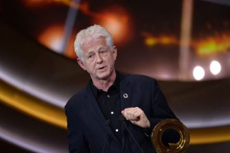 LONDON, ENGLAND - DECEMBER 13: Richard Curtis accepts the Global Citizen of the Year Prize at the 2019 Global Citizen Prize at the Royal Albert Hall on December 13, 2019 in London, England. (Photo by Jeff Spicer/Getty Images for Global Citizen)