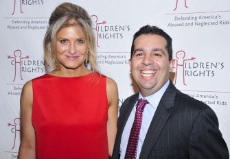 NEW YORK, NY - OCTOBER 29:  Molly Gochman and Sandy Santana attend the Children's Rights Ninth Annual Benefit at The Lighthouse at Chelsea Piers on October 29, 2014 in New York City.   (Photo by Jenny Anderson/WireImage)