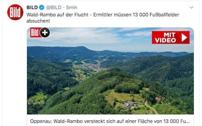 Germania, caccia a uomo armato nella Foresta Nera