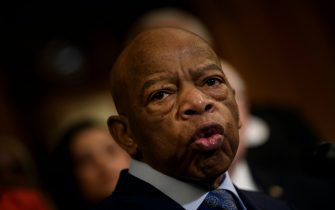 Rep. John Lewis (D-GA) speaks during a press conference about voting rights on Capitol Hill December 6, 2019, in Washington, DC. (Photo by Brendan Smialowski / AFP) (Photo by BRENDAN SMIALOWSKI/AFP via Getty Images)