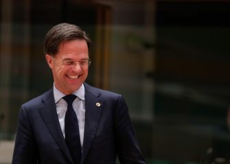 epa08557649 Dutch Prime Minister Mark Rutte looks on during a last roundtable discussion following a four days European summit at the European Council in Brussels, Belgium, 21 July 2020. European Union nations leaders meet face-to-face for a fourth day to discuss plans to respond to the coronavirus pandemic and a new long-term EU budget.  EPA/STEPHANIE LECOCQ / POOL