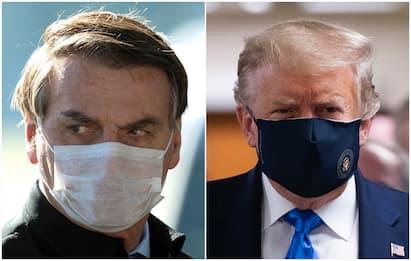 "Coronavirus, Trump: ""Indossate mascherina"". Bolsonaro ancora positivo"