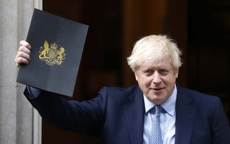 LONDON, ENGLAND - SEPTEMBER 25: UK Prime Minister Boris Johnson leaves 10 Downing Street for Parliament on September 25, 2019 in London, England. Yesterday the Supreme Court ruled that the Government's prorogation of Parliament was unlawful. Parliament will re-convene this morning at 11.30am cutting short both the Labour Conference and the Prime Minister's trip to the United Nations General Assembly. (Photo by Hollie Adams/Getty Images)