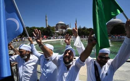 Santa Sofia, inaugurazione moschea: la preghiera del venerdì. FOTO