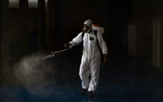 BRASILIA, BRAZIL - JULY 31: Public school social areas are disinfected amidstthe coronavirus (COVID-19) pandemic at the Candangolância on July 21, 2020 in Brasilia. The government of the capital of Brazil intends to return to face-to-face classes in August. Brazil has over 2.610,000 confirmed positive cases of Coronavirus and has over 91,263 deaths. (Photo by Andressa Anholete/Getty Images)