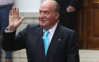 GRANADA, SPAIN - MAY 28:  King Juan Carlos attends the wedding of Lady Charlotte Wellesley and Alejandro Santo Domingo at Illora on May 28, 2016 in Granada, Spain.  (Photo by Daniel Perez/Getty Images)