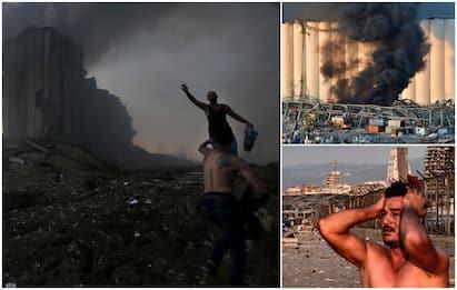 Beirut, esplosioni vicino al porto: almeno 10 morti. FOTO