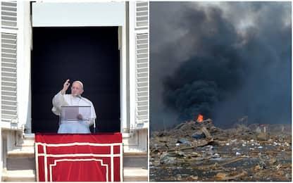 """Esplosione a Beirut, il Papa: """"Tragedia e dolore, prego per Libano"""""""