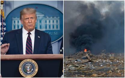 """Esplosione a Beirut, Trump: """"Sembra terribile attentato"""""""