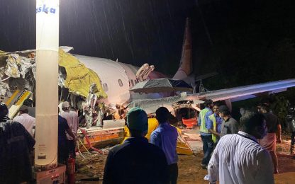 India, incidente aereo in Kerala: almeno 20 morti e 123 feriti