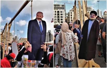 Beirut, proteste e manifestazioni contro il sistema politico. FOTO
