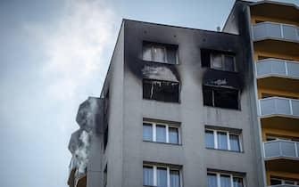 Incendio palazzo Repubblica Ceca