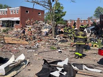 """Baltimora, forte """"esplosione di gas"""": case distrutte, almeno un morto"""
