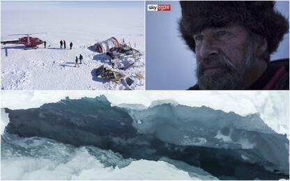 Groenlandia, le immagini del crepaccio dove è precipitato Koni Steffen