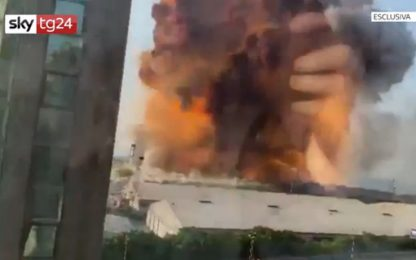 Libano, le immagini inedite dell'esplosione a Beirut. VIDEO ESCLUSIVO
