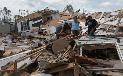 La devastazione dell'uragano Laura in Louisiana. FOTO