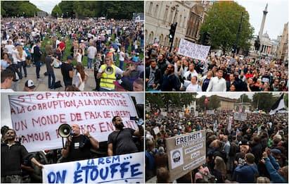 Coronavirus, in Europa si protesta contro le mascherine. FOTO