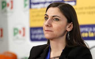 Anna Ascani durante la conferenza stampa nella sede del Partito Democratico per presentare la campagna a sostegno delle iniziative del Governo contro il coronavirus, Roma, 5 marzo 2020. ANSA/RICCARDO ANTIMIANI