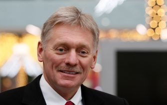 Kremlin spokesman Dmitry Peskov visits the Dream Island amusement park ahead of its upcoming inauguration in Moscow on February 27, 2020. (Photo by SHAMIL ZHUMATOV / POOL / AFP) (Photo by SHAMIL ZHUMATOV/POOL/AFP via Getty Images)