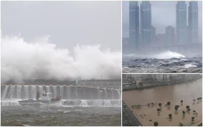 Il tifone Haishen tocca terra in Corea del Sud. FOTO