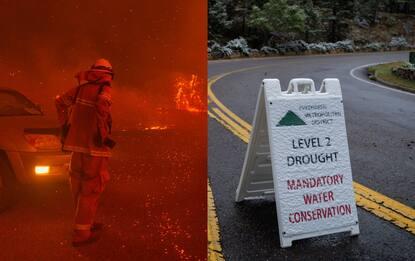 Incendi in California, distrutti 8mila kmq di foreste.Neve in Colorado
