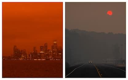 Usa, cielo rosso per gli incendi tra California e Oregon. FOTO