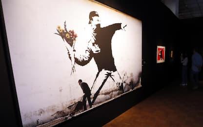 Banksy perde copyright sul Lanciatore di fiori di Gerusalemme