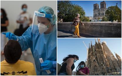 Coronavirus, Paesi con più casi in 24h: in aumento Spagna e Francia